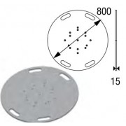 Embase de sol lourde diamètre 80cm