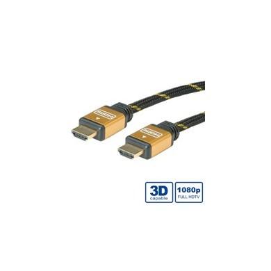 Câble HDMI High speed avec Ethernet 1.4a GOLD
