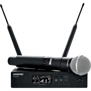 Ensemble microphone HF Numérique - QLXD24-58- récepteur simple+ Emetteur Main SM58