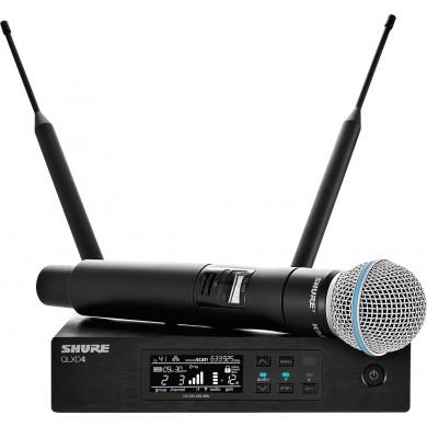 Ensemble microphone HF Numérique - QLXD24-B58 Récepteur simple + Emetteur Main BETA58A