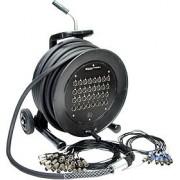 Enrouleur 32 canaux - XLR / XLR - masse séparée, Long. câble: 30 m